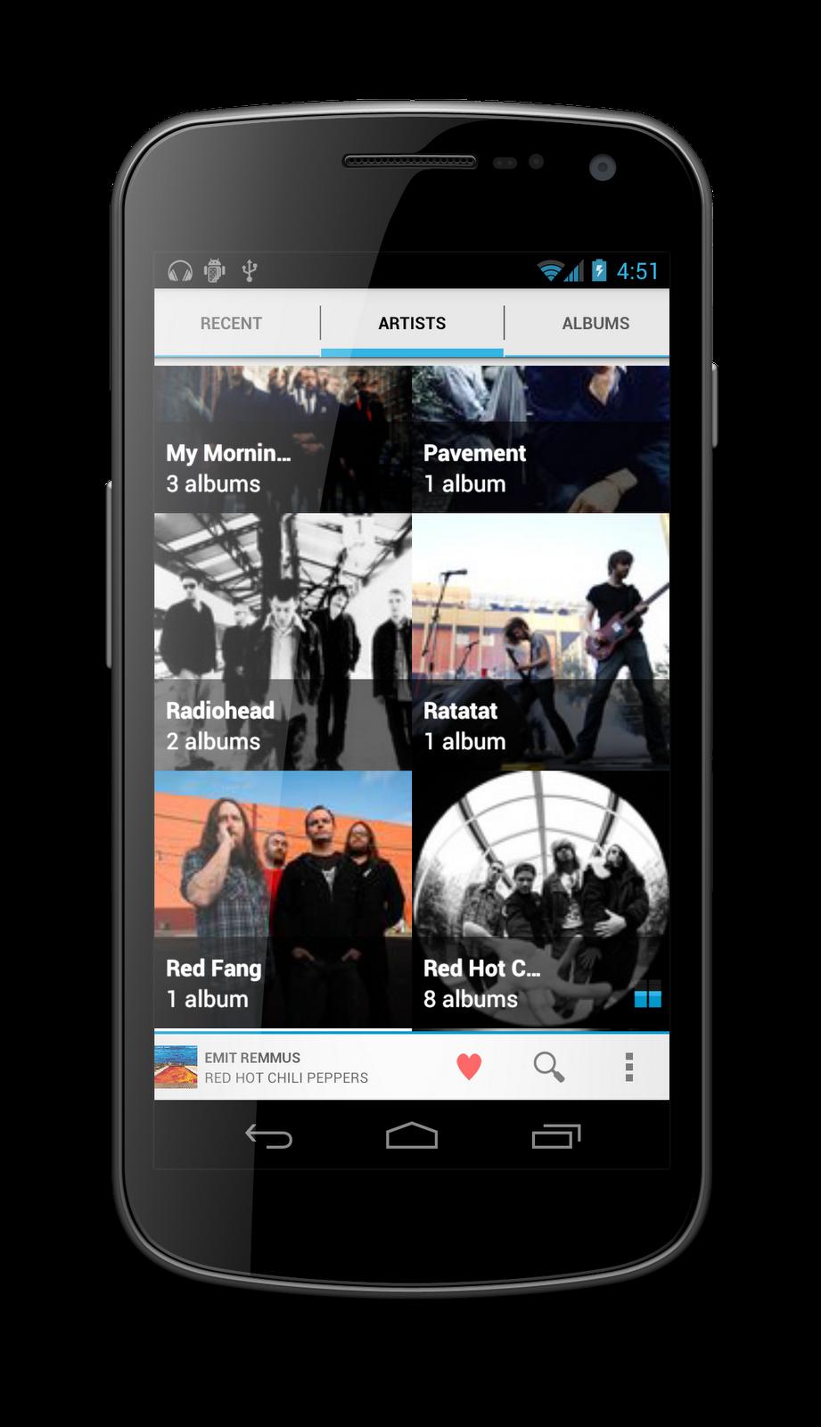 Apollo il lettore musicale ufficiale della CyanogenMod 9 è stato rilasciato [DOWNLOAD]