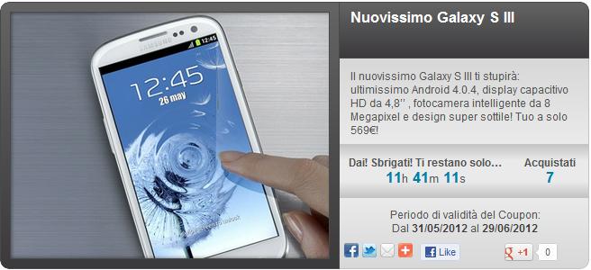 offerta Groupalia Galaxy S3