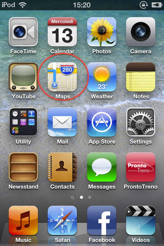 screen iOS 6
