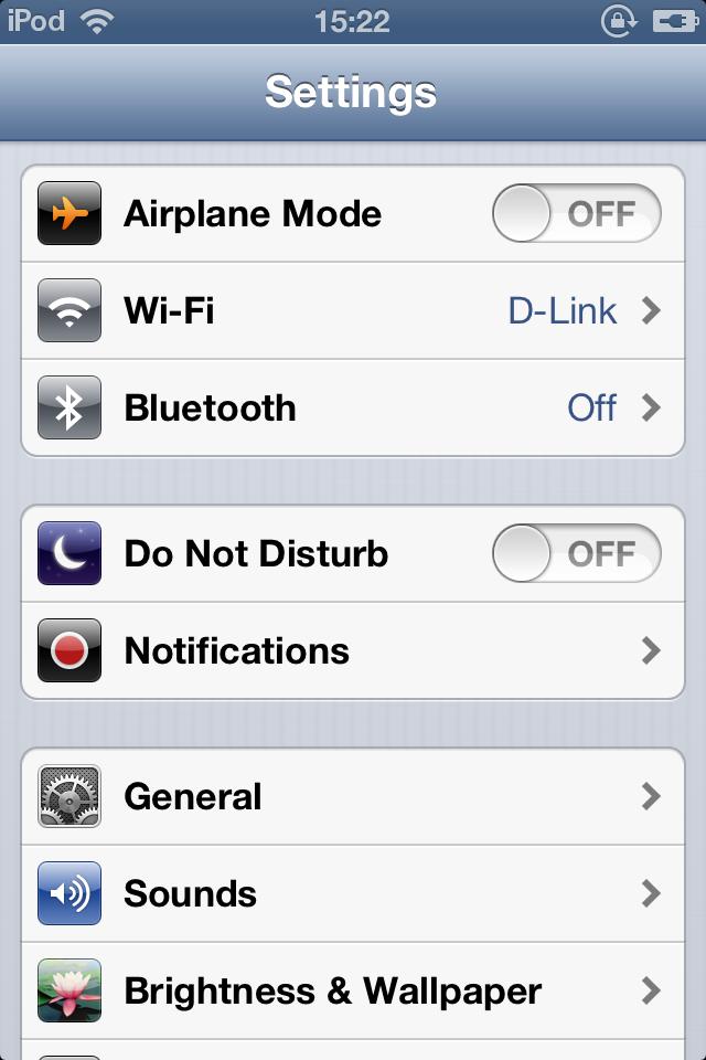 Impostazioni part 2 iOS 6