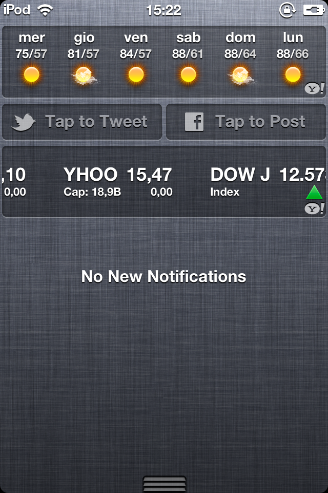 Notifiche iOS 6