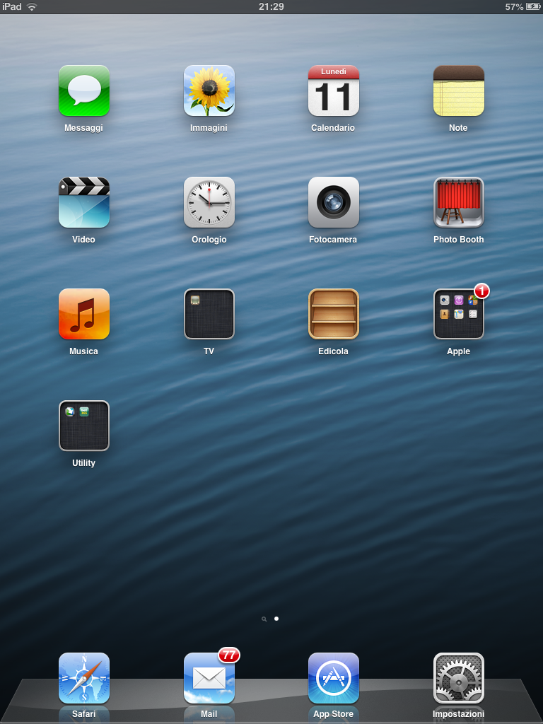 Homescreen iOS 6