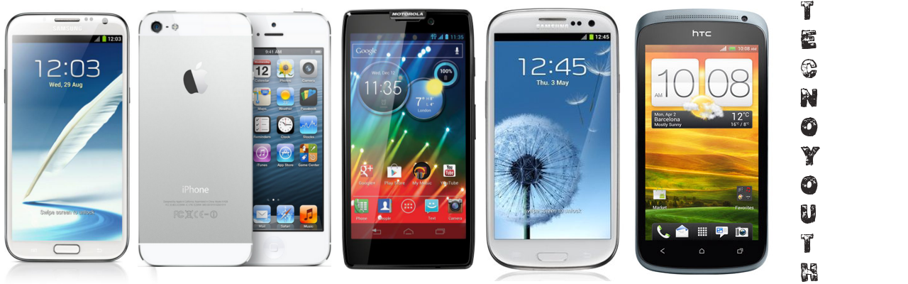 iPhone 5 vs Galaxy S3 vs HTC One X vs Motorola Razr HD vs Galaxy Note 2