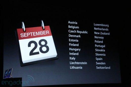 Paesi rimanti e date iPhone 5