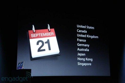 date disponibilità iPhone 5