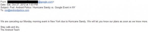 Evento 29 ottobre Google cancellato