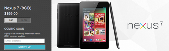 Nexus 7 da 8 Gb non è più disponibile all'acquisto sul Play Store