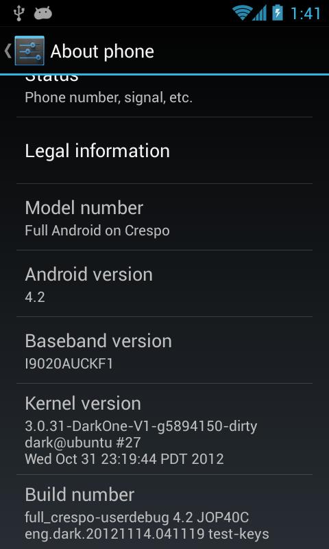 Nexus S Android 4.2