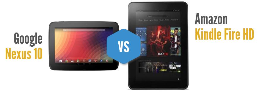 Nexus 10 vs Kindle Fire HD