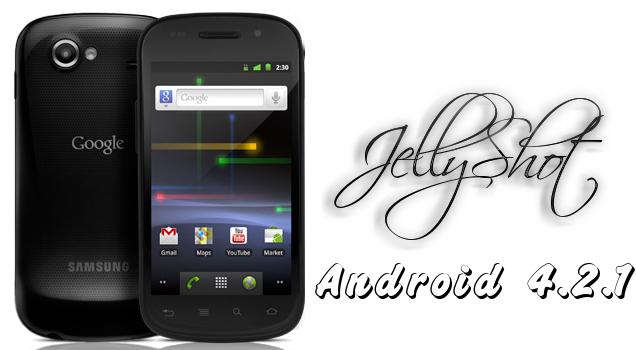 google nexus s android 4 2 1 con la rom jelly shot