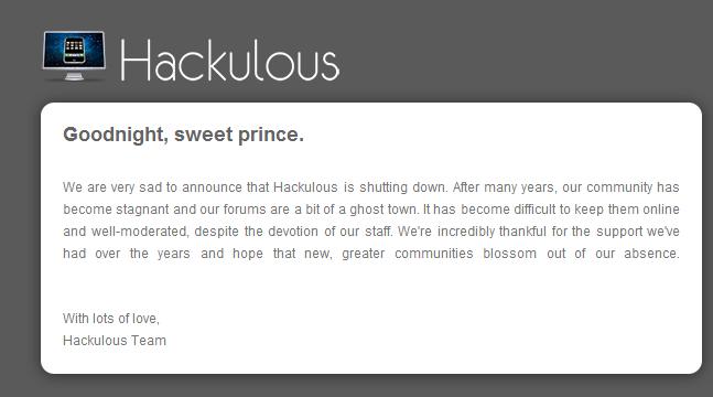 Hackulous chiude
