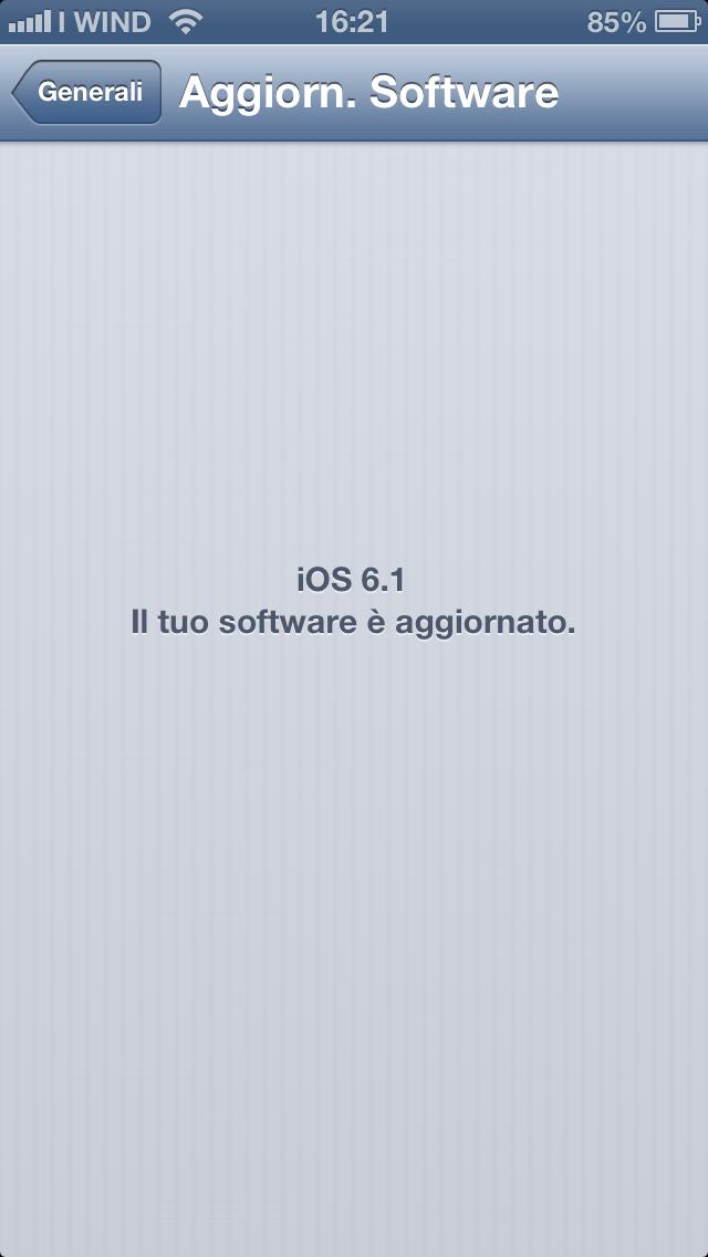 iOS 6 aggiornamento