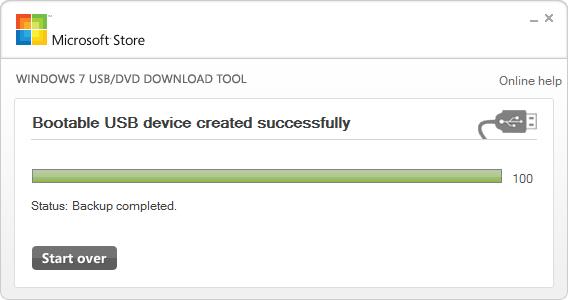 Windows USB DVD tool screen 3