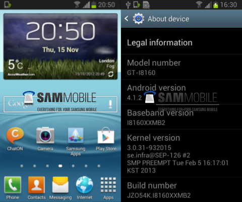 Galaxy Ace 2 Android Jelly Bean 4.1.2