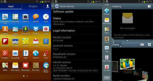 Galaxy Note N7000 Android 4.1.2