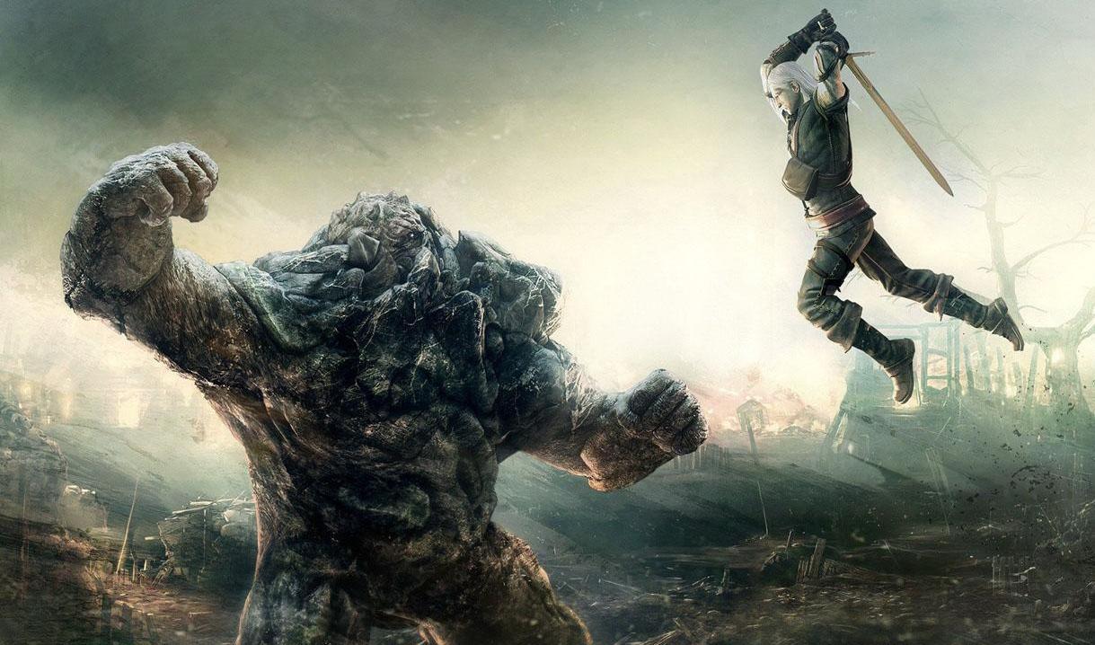 Geralt vs mostro