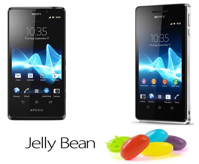 Sony Xperia T Sony Xperia V Jelly Bean