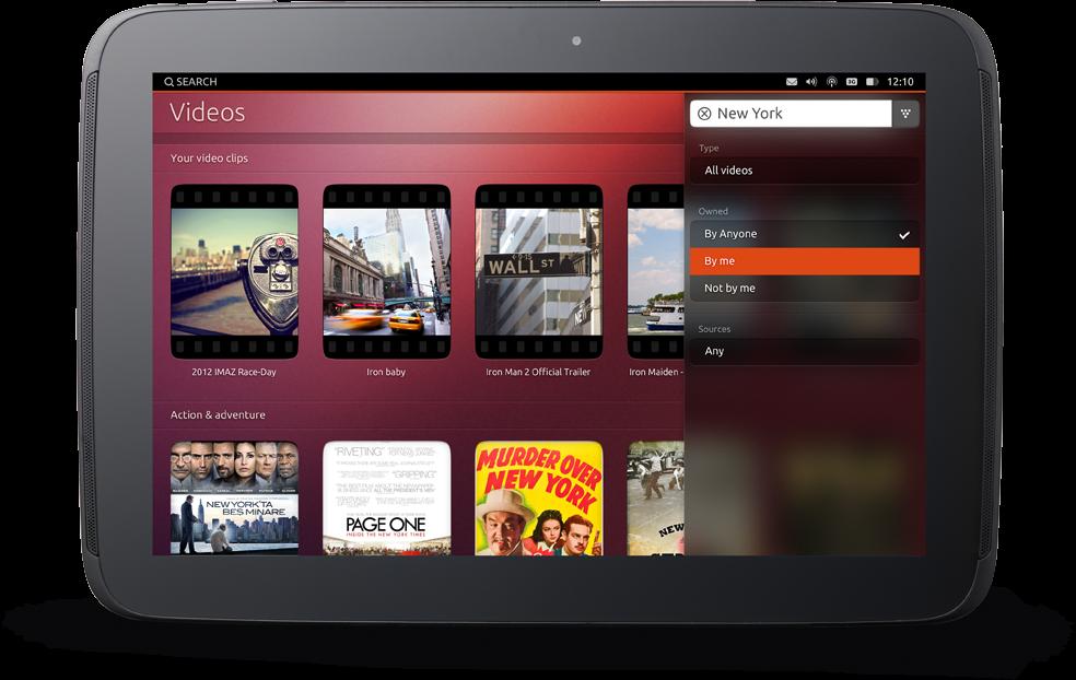 Ubuntu per tablet-sistema