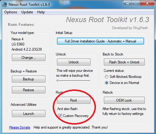 Nexus 4-Root-CWM