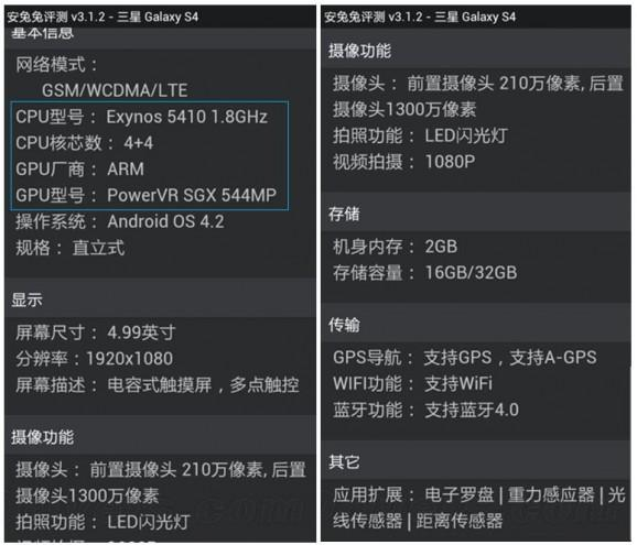benchmark  galaxy s4
