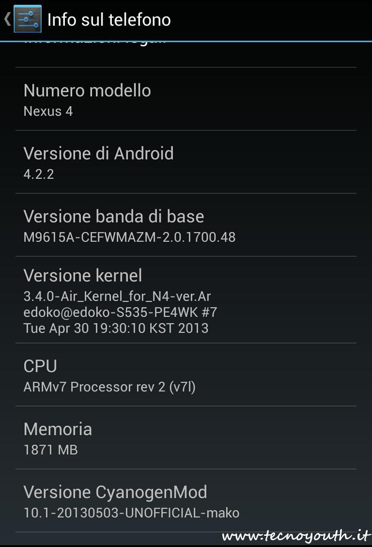 Nexus 4-CyanogenMod-10.1