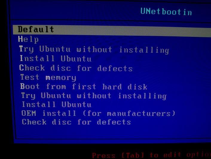 UnetBootIn avvio Ubuntu