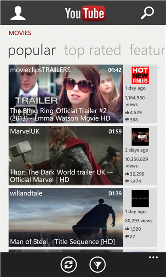 Youtube Windows Phone 8 preferiti