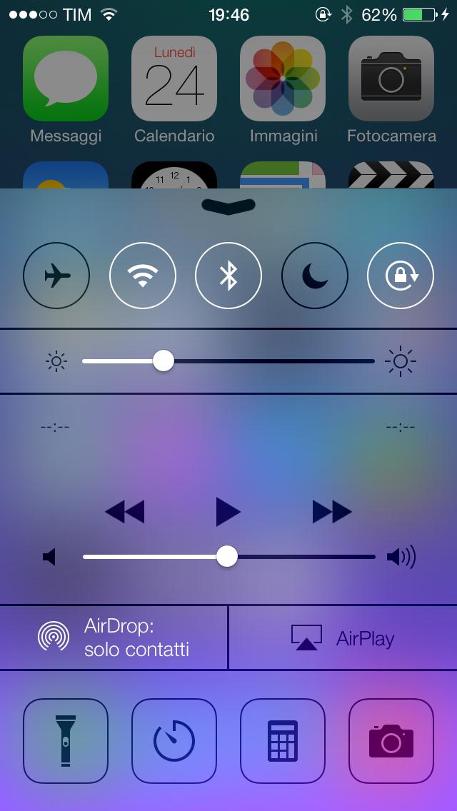 Centro notifiche iOS 7