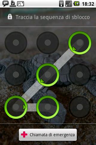 Sequenza di sblocco Android