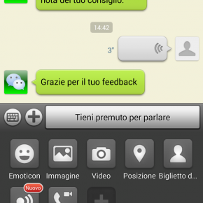 WeChat Chat screen