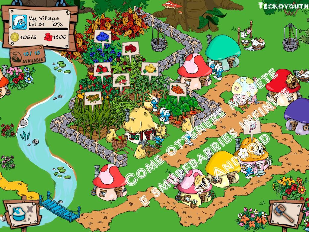 smurfs village trucchi