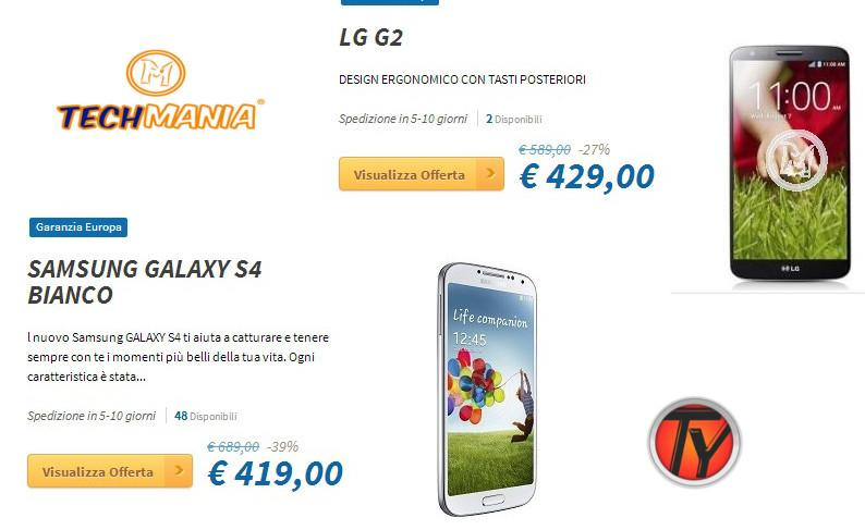 Offerta-Galaxy-S4-LG-G2-Techmania