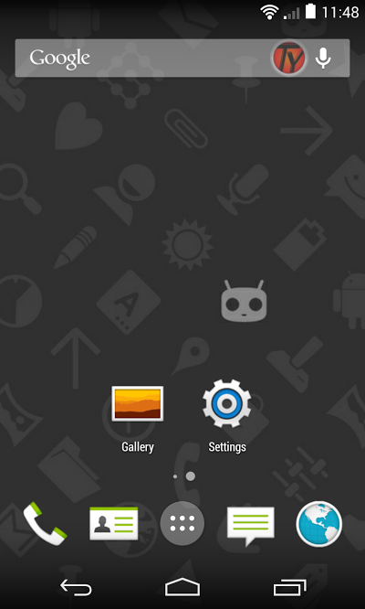 Google-Nexus-4-CM11-Homescreen