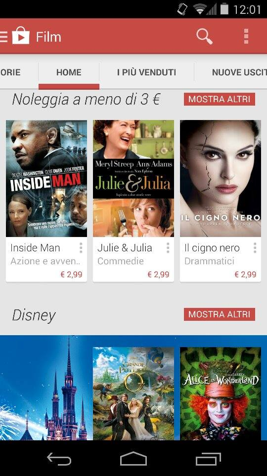 Google Play Movies Italia