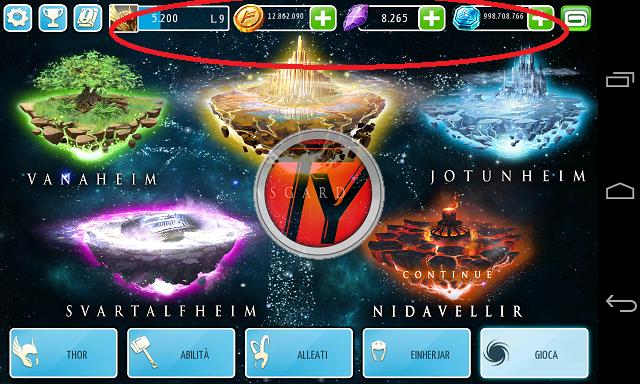 Thor-The Dark World-gemme infinite-monete infinite-trucchi Android-screenshot