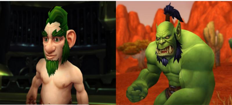 World of Warcraft orco vs gnomo