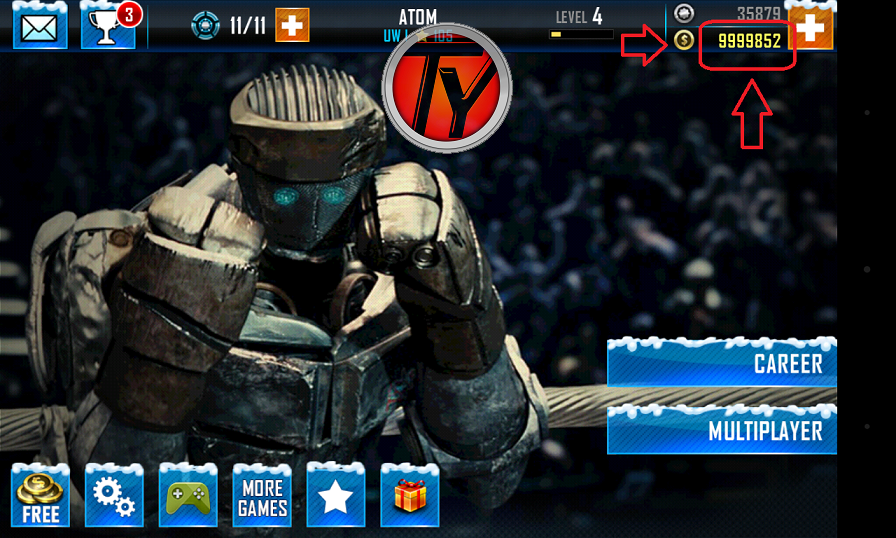 Real Steel World Robot Boxing screenshot-trucco-monete infinte-andoid-giochi