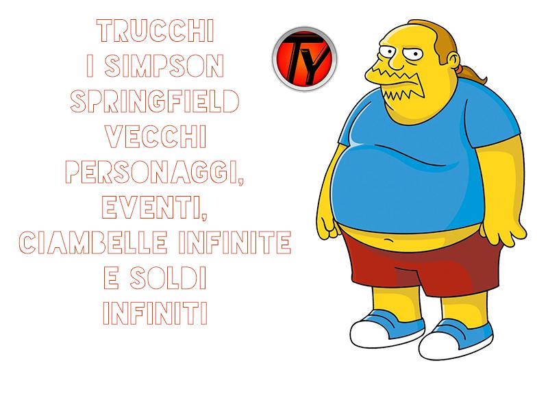 Simpson-Springfield-vecchi eventi-personaggi-ciambelle infinite-soldi infiniti-Android-trucchi