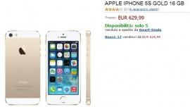 iPhone 5S da 16 Gb in offerta su Amazon a 629€