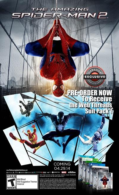The Amazing Spider-Man 2-Pre-ordine-bonus-giochi-PC-console