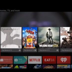 Android TV - Menù Navigazione