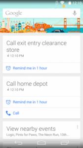 Google Now Promemoria Chiamate