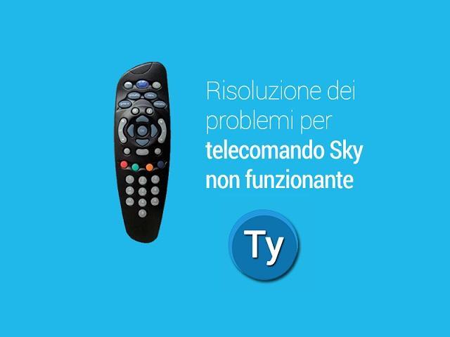 telecomando sky non funziona: come risolvere