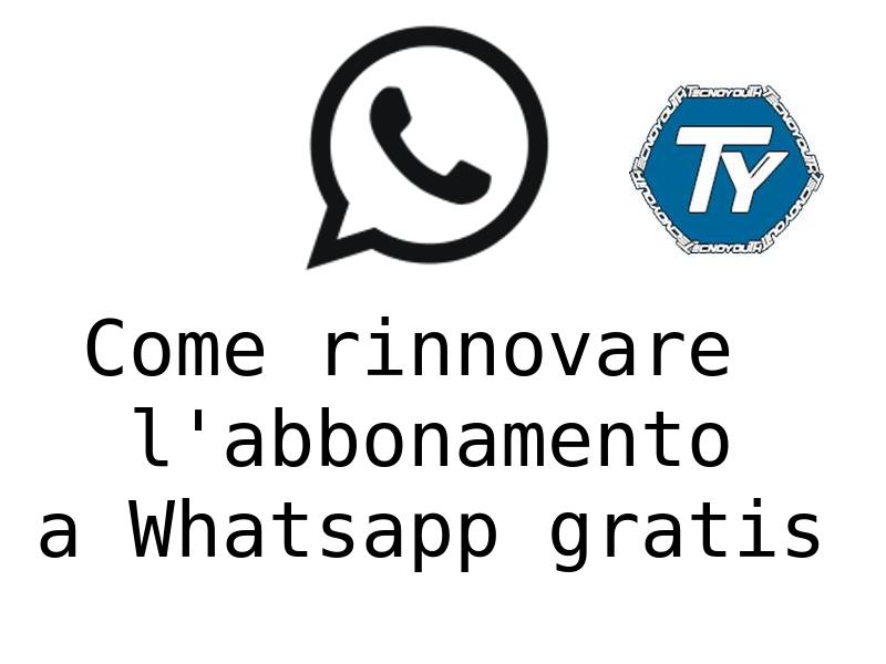 rinnovare abbonamento whatsapp gratis con Wassapp