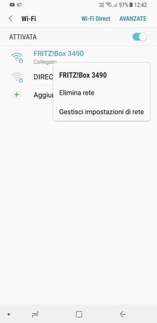 Impostazioni Wifi Android OpenDNS