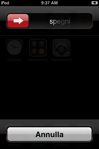 Spegni telefono iPhone