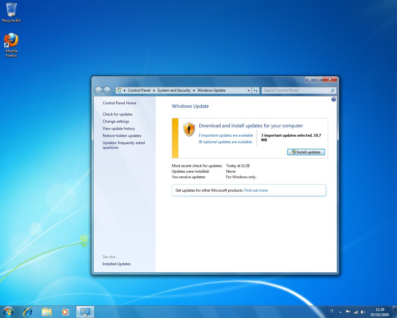 Windows-Aggiornamenti