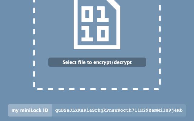 MiniLock, ora è possibile crittografare file dal browser Chrome