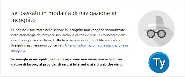 Cronologia google - Nuova finestra di navigazione in incognito ...