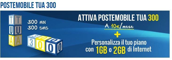 Offerta Postemobile Tua 300
